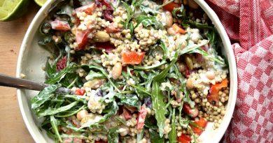 Салат с гречкой и фасолью