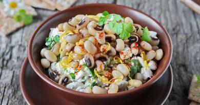 Салат из фасоли (с брынзой)