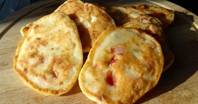 Оладушки-пиццы на сковородке, которые готовятся в два счета