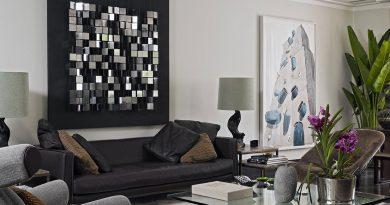 Чем украсить стену в гостиной над диваном, если хочется сохранить минимализм?
