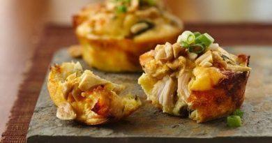 Чудные маффины с овощами и курицей