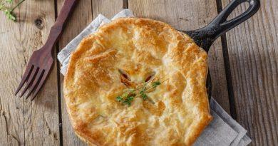 Картофельный пирог с ветчиной