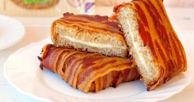 Бутерброд в беконе