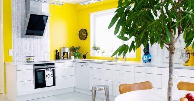 Сочный желтый лимон в интерьере – яркое лето в собственном доме .