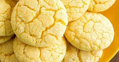 Быстрое лимонное печенье на кефире