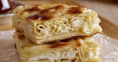 Ачма из лаваша с творожно-сырной начинкой