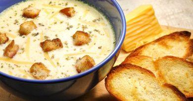 Сырный суп: рецепт с гренками