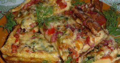 Омлет-пицца: вкусное начало дня!
