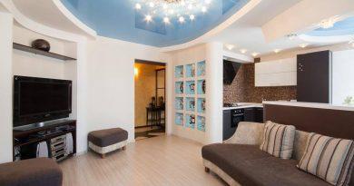 Потолок в гостиной: правила ремонта