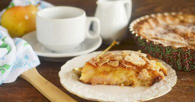 Карамельно-грушевый пирог