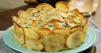 Сытный картофельный пирог