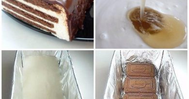 "Тортик без выпечки ""Полосатик"""