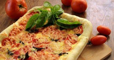 Пирог с помидорами и базиликом
