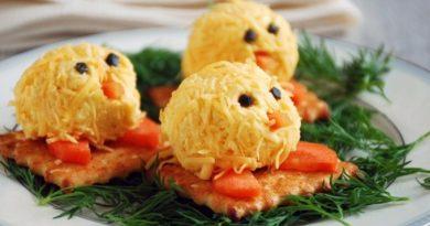 Сырные цыплята к Пасхе