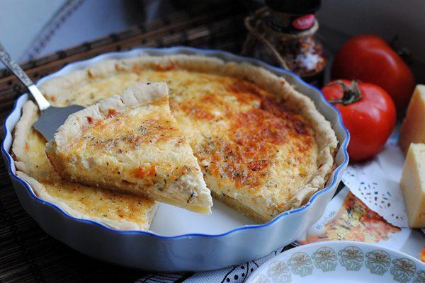 Рецепт простого сырного пирога