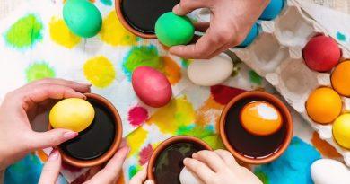 Яйца окрашенные натуральными красителями