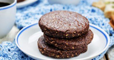 Шоколадное печенье из песочного теста