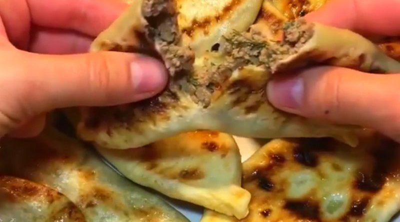 Скороспелые жареные Пирожки с ливером или лепёшки с печенью
