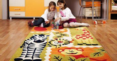 Как подобрать практичный ковер на пол в детскую комнату?