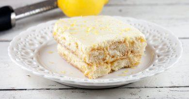 Десерт в стиле тирамису с лимончелло и рикоттой.