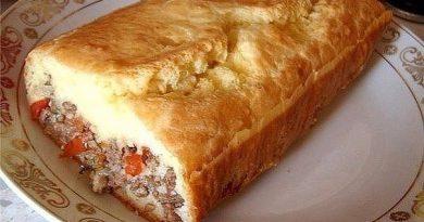 """""""Ленивый"""" пирог с начинкой...Ну очень вкусно, попробуйте!"""