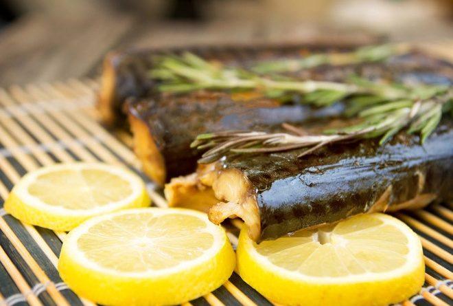 Рецепт рыбы, запеченной на мангале