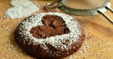 Шоколадное печенье с изюмом и орехами