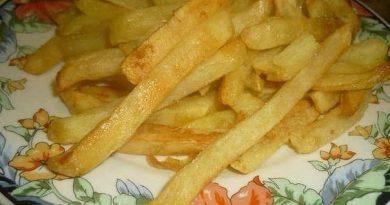 """Картофель """"фри"""" (без жира и масла)."""
