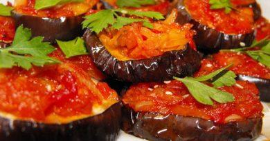 Баклажаны с овощами по-турецки.