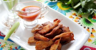 Полезная и очень вкусная закуска: чипсы из курицы