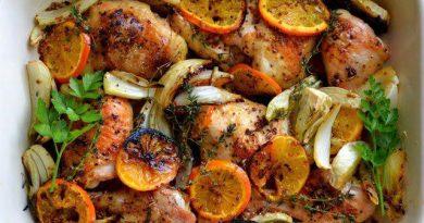 Как приготовить курицу с апельсинами