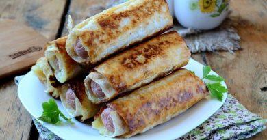 Сосиски в картофельно-сырной шубке, готовим вкусный перекус