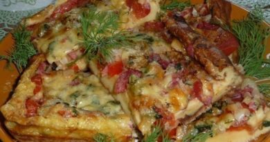 Пицца-омлет с пепперони