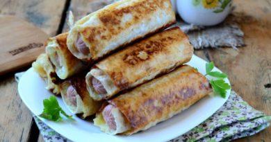 """Сосиски в картофельно-сырной """"шубке"""" и хрустящей корочке"""