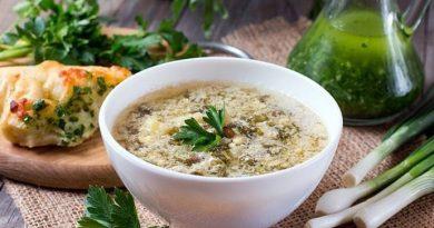 Суп «кудрявый» со щавелем