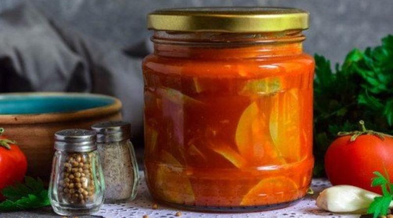 Салат из кабачков в томате