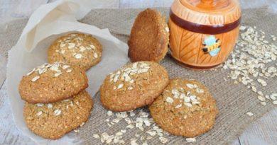 Овсяное печенье с орешками без муки