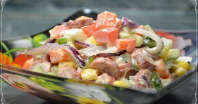 Яркий и вкусный салат