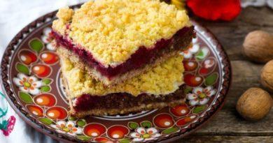 Кучерявый пирог с вареньем или свежими фруктами