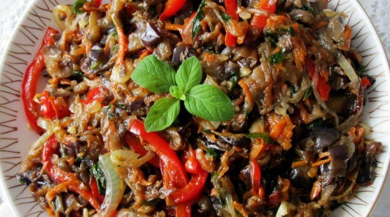 Салат из баклажанов по корейски