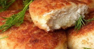 Котлеты из курицы с картофелем и сыром