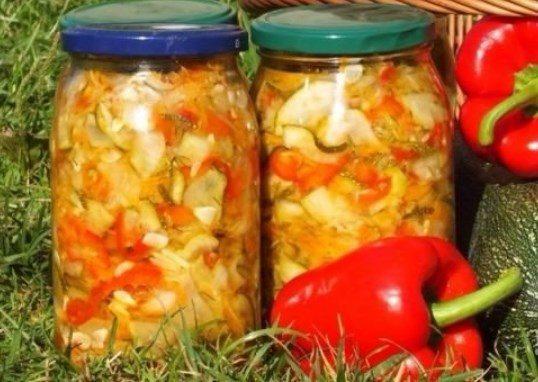 Вкусный салат болгарским перцем на зиму