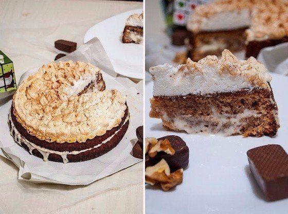 Торт со сгущенкой и меренгой