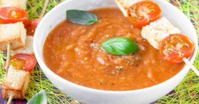Суп-пюре из свежих помидоров