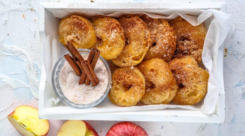 Жареные яблочные кольца