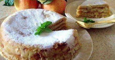 Яблочный насыпной торт