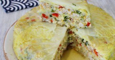 Пирог из капусты с мясом