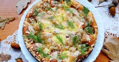 Пирог с фрикадельками под сырной корочкой