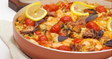 Паэлья с морепродуктами - оригинальный рецепт