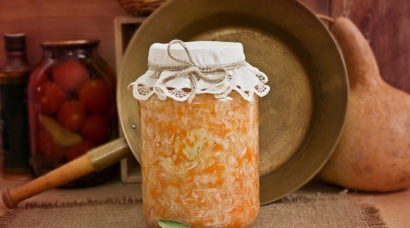 Как сделать квашеную капусту с тыквой